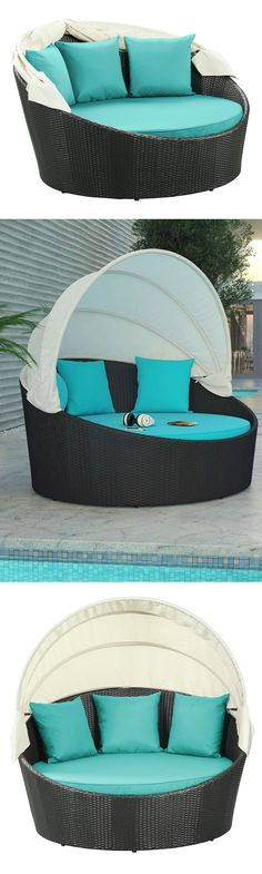 Turquoise outdoor canopy daybed! #furniture_design #product_design