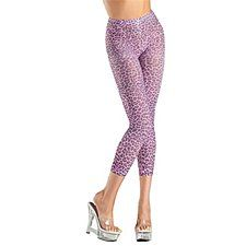 f68f47ef1 Be Wicked BW713 Leopard Print Footless Tights Pantyhose Pink - One Size