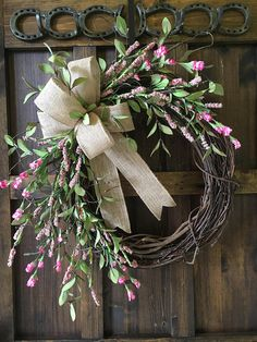 Hey, I found this really awesome Etsy listing at https://www.etsy.com/listing/609661619/summer-wreathspring-wreathpink Greenery Wreath, Grapevine Wreath, Lighted Branches, Burlap Bows, Burlap Wreath, Cotton Wreath, Year Round Wreath, Wreaths For Front Door, Door Wreaths