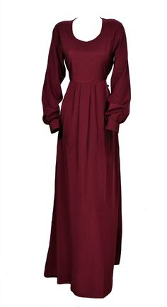 Deep Plum Dress - a modest, chic dress for all women. #modesty #modestfashion #dresses #fashion #hijabfashion #theihsancollection