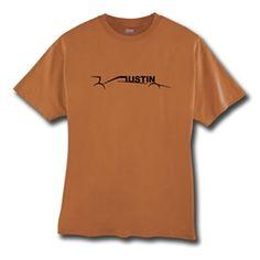 Austin car t-shirt in Texas Orange by THE AUSTIN GRAND PRIX $19.99