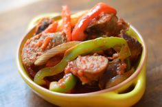 Johnsonville Italian Sausage and Pepper Medley. ~ Another simple yet flavorful recipe from Johnsonville. I served it over rice and the two paired well together for a quick and easy dinner recipe. Recipe Link: http://allrecipes.com/recipe/johnsonville-italian-sausage-and-pepper-medley/detail.aspx #JvilleKitchens #AllstartsJville #Allrecipes @Allrecipes