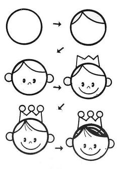 draw a princess drawing for kidsbasic