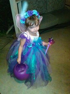 Homemade halloween fairy princess costume from tulle. #tulle #Halloween