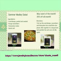 Summer medley salad & honeydew melon candles/tarts Jewelry In Candles