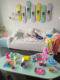 Room Design Bedroom, Room Ideas Bedroom, Bedroom Decor, Indie Room Decor, Aesthetic Room Decor, Pastel Room, Pastel Decor, Retro Room, Foto Baby