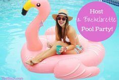 Host a Bachelorette Pool Party This Summer! | Photo via Carrie Bradshaw Lied