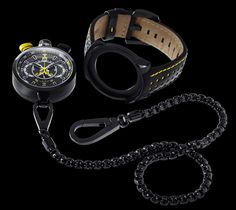 The Bomberg can either be used as a regular wristwatch or as a pocket watch by attaching a chain. Pocket Watch Mens, Gentleman Watch, Cool Gear, Gaucho, Cool Things To Buy, Boots, Blue, Jewelry, Edc