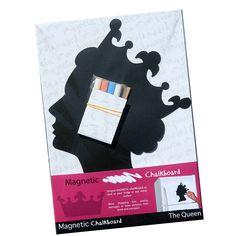 Queen Magnetic Chalkboard  by Ella James