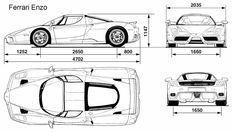ferrari enzo blueprint