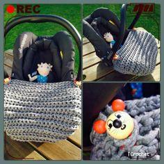 iCrochetstuff: Maxi-cosi zpagetti voetenzak haken met patroon. Free crochet pattern!