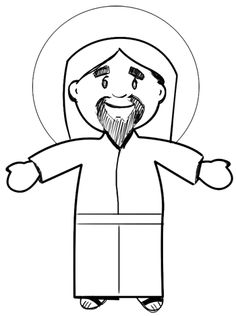 jesus drawing step christ draw easter cartoon drawings lessons drawinghowtodraw cartoons catholic could steps