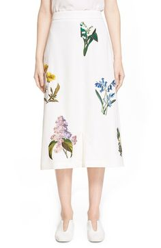 Stella McCartney 'Kyle' Floral Embroidered Wool Culottes available at #Nordstrom