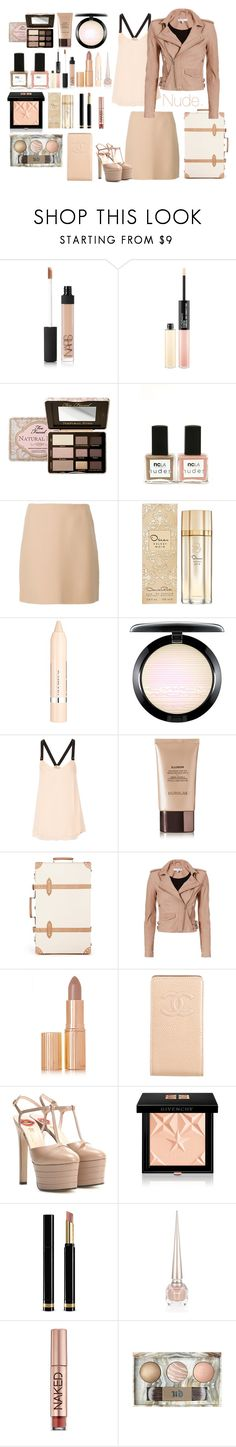 """""""NuDiE"""" by denyeverything ❤ liked on Polyvore featuring NARS Cosmetics, MAC Cosmetics, Too Faced Cosmetics, ncLA, Theory, Oscar de la Renta, L'Oréal Paris, 10 Crosby Derek Lam, Hourglass Cosmetics and Globe-Trotter"""