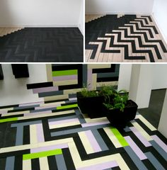 Who would have thought that recycled tire flooring could be so stylish? Swedish company Apokalyps Labotek takes some of the 4 million tires that are disposed of in that country each year and grinds them into a powder, which is then mixed with recycled plastic and formed into flooring.