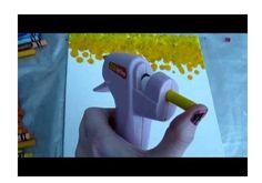 Crayons in a glue gun
