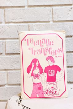 Vintage Teenage Transfers No 0271 ARTEX 1970s Iron by CabinOn6th