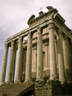 The Temple of Saturn - constructed in the 5th Century BCE, this was a monument to the Roman god Saturn, which was honored through the Feast of Saturnalia.
