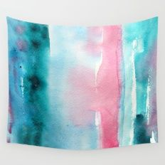 Turquoise love Wall Tapestry
