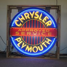 Neon Sign in Metal Can - Chrysler Plymouth 36 Inch – Oldies of Usa Partners