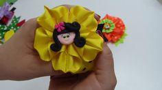 Como hacer flores lindas y elegandes de liston para lazos, video 549, Ma...