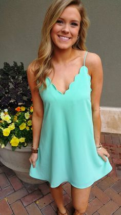Love the color and scallops!