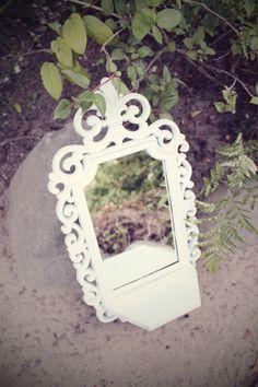 Ornate White Mirror Shelf Cottage Shabby Chic