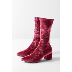 262cf899114b2 Vagabond Mya Crushed Velvet Mid-Calf Glove Boot ( 140) ❤ liked on Polyvore  featuring shoes