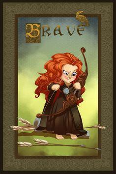FANART Merida (BRAVE / Pixar) by ~Ibealia on deviantART