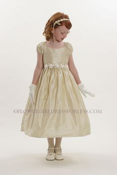 CK_596IR - Flower Girl Dress Style 596- Ivory with Red Petal Dress ...