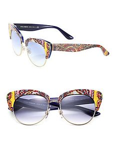 f820596b0d26 D G Dolce   Gabbana Women s Almond Flowers Polarized Cat-Eye... ( 167) ❤  liked on Polyvore featuring accessories