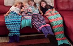 This Crochet Mermaid Blanket is perfect for snuggling and it's a FREE Pattern. Check out the other Mermaid Crochet too!