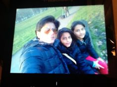 Twitter / iamsrk: Cycling in the park...sitting on a log...spotting birds...dropping hot chocolate...cold red noses...I love lil girls.