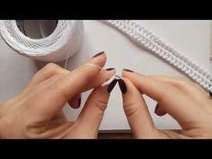 Irish lace of Natalia Bondarenko. Decorative cord-tape. Декоративный шнур тесемка - YouTube