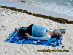 The Twisted Roots Pose is a variation on the Side Lying Spinal Twist, and works more deeply into the therapeutic twist. Yin Yoga Poses, Eagle Pose, Yoga Anatomy, Yoga Art, Yoga Quotes, Best Yoga, Yoga Inspiration, Beach Mat, Surfing