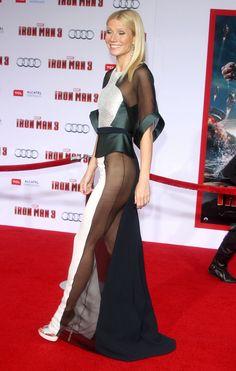 Gwyneth Paltrow Naked Waist Down Iron Man 3 Premiere Iron Man 3, Gwyneth Paltrow, Beautiful Women Quotes, Beautiful Celebrities, Revealing Dresses, Chic Outfits, Fashion Outfits, World Most Beautiful Woman, See Through Dress