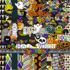 Scrapbooking TammyTags -- TT - Designer - Harper Finch, TT - Item - Kit or Collection,  TT - Theme - Halloween