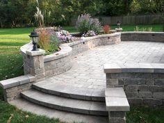 Hardscape Design, Design Jardin, Garden Design, Outdoor Patio Designs, Patio Ideas, Backyard Ideas, Pavers Ideas, Sloped Backyard, Backyard Designs
