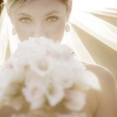 Breathtaking sunset bridal portraits