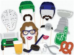 Your hockey party will be ready for the check with my hockey photo booth props. There are 23 quirky props in this collection, including a penalty