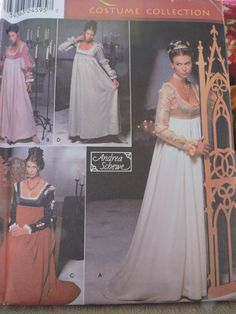 Renaissance Dress Gauntlets Outfits Halloween Costume Women's Costume Simplicity 9531 Sewing Pattern Sizes 6 to 12 Andrea Schewe Designer Halloween Patterns, Costume Patterns, Sewing Patterns For Kids, Vintage Sewing Patterns, Halloween Outfits, Halloween Costumes, Renaissance Costume, Raggedy Ann And Andy, Stage Play