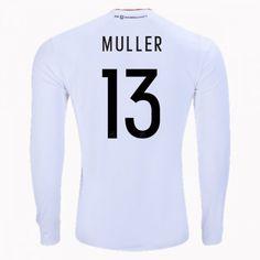 2017 Germany Soccer Team LS Home  13 Muller Replica Football Shirt 2017 Germany  Soccer Team 8a046c514