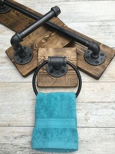 Industrial, rustic bathroom set of 3 DESCRIPTIONS: This industrial rustic bathroom set include bath towel holder, toilet paper holder and a hand towel ring. Industrial, rustic beautiful set of It will make your bathroom outstanding and one of a kind Industrial Bathroom, Rustic Bathrooms, Modern Industrial, Primitive Bathrooms, Industrial Door, Industrial Living, Vintage Industrial, Industrial Pipe Shelves, Industrial Wallpaper