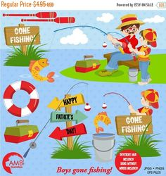 80%OFF Father's Day clipart, Gone Fishing clipart, Daddy and Me Clipart, Invitation elements, commercial use, vector graphics, AMB-1358 by AMBillustrations on Etsy https://www.etsy.com/uk/listing/398108069/80off-fathers-day-clipart-gone-fishing