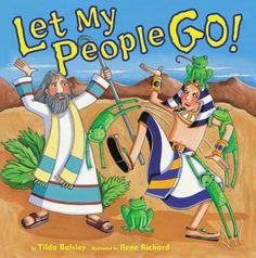 With colorful cartoon pictures the story of Moses, Pharaoh, the ten plagues, and the exodus is told as a play and in rhyme. This would be fun at a Seder or in other small groups. Children will love the funny pictures of the people with gnats, flies, boils, or locusts. Actors will enjoy reading or may soon learn their parts for a fun production.