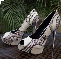 FASHION: Ta Moko designed stilettos.