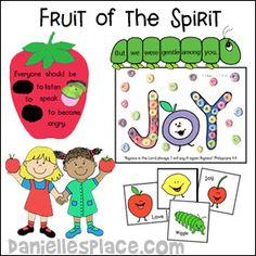 Fruit of the Spirit Bible Lessons for Children's Ministry