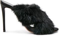 Mink Fur, Aquazzura, Heeled Mules, Life