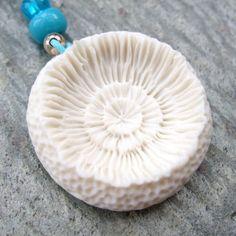 Porcelain Pendant - Concentric Coral