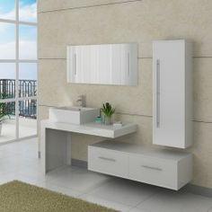 DIS749GT Meuble de salle de bain Gris taupe #meubles #salledebain ...